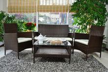 4 Piece Rattan Effect Furniture