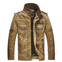 Mens washed Pu Leather Jacket for sale,Winter Newest used Leather Jacket