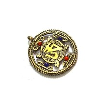 Wholesale of Brass Pendants : Tibetan Golden Brass Om Amulet Pendants