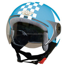 Fashionable and secure girl half face helmet for motorcycles, available in various designs