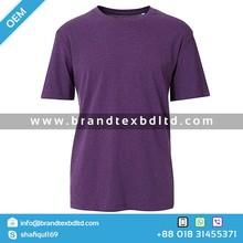 Men's Cotton T-Shirt Purple quality OEM Custom new design slim mens round neck short sleeve mens tshirts promotional wholesale