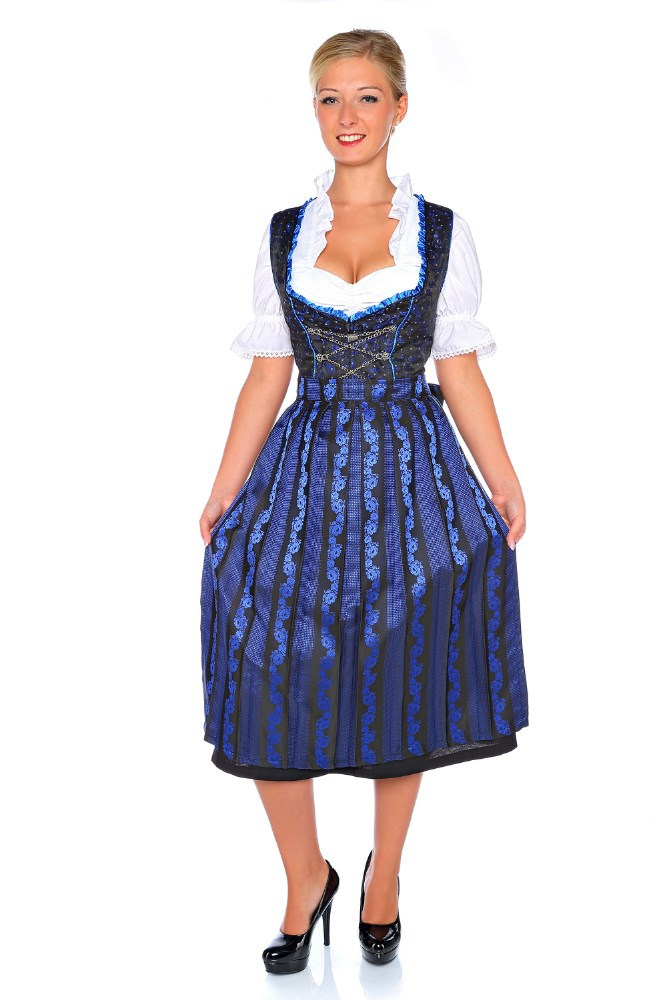 1214 3tlg dirndl oktoberfest trachten kleid. Black Bedroom Furniture Sets. Home Design Ideas