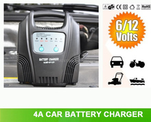 4A Car Gel Battery Charger 6V/12V Switching CE ROHS