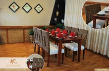2015 Modern solid wooden dining table and chairs home furniture