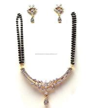 New Design Fashion Sale Jewelry Artificial Jewelry American Diamond Designer Mangalsutra Set