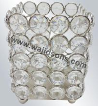 Ornate transparent crystal votive candle holder for valentine's day decoration