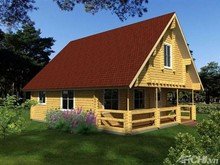 New Good Nice Customized Wooden house made from brown or reddish Vietnam mixed hardwood