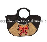 Cheap woven bags, handmade folding shopping bags for girls, eco friendly young style seagrass shoping bags for women