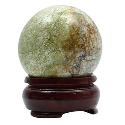 Jasper Sphere Ball Stand Healing Balancing Reiki Gift Table Decor CD191A