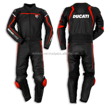 Ducate Replica Black Racing Suit Premium Quality Cow Grain Leather Ce Armours protective Motorcycle Suit in Premium Quality
