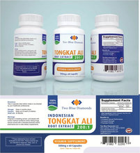1000mg GMP Certified FDA Registered Indonesian Tongkat Ali Root Extract 200:1 100% All Natural, 500mg Per Capsule