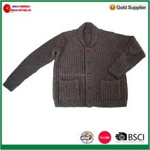 1.5GG Men's Long Sleeve Acrylic/Wool Heavy Cardigan