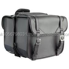 Motorbike Motorcycle Biker Large Sissy Bag Saddle Bag Reinforced Harley Style 2