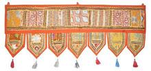 Decorative Embroidered Door Toran & Window Valance Topper
