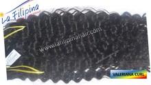 Sexy valeraina curl machine weft hair extensions, 100% Filipino human remy hair by La Filipina HairPhilippine hair supplier