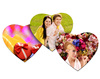 Heart Shape Blank White Fabric Mouse Pad for Sublimation Rubber Foam Sheets
