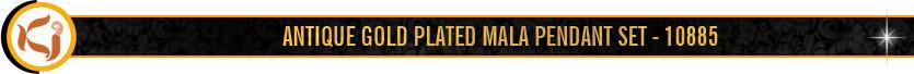 ANTIQUE GOLD PLATED MALA PENDANT SET - 10885 Title.jpg
