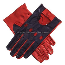 NEW Men's Luxurious Leather Driving Gloves/New Classic Super Soft Sheep Leather Skin Driving Gloves/