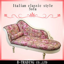 Italian classic style sofa with beautiful carving by hand designed in Japan