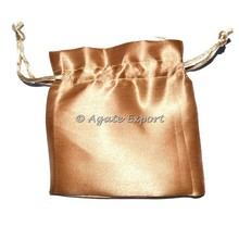 Light Brown Satin Pouch : Customized Printed Velvet Bags and Pouch