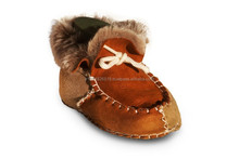 Real sheepskin baby shoe