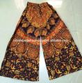 hermosa imprime mandala casual pantalones palazzo indio de algodón pantalones de cordón