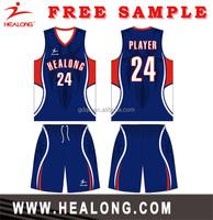 Wholesale quality custom high school basketball jerseys basketball wear