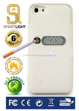 White case for iPhone 4/4S with ecological cigarette lighter