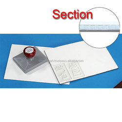 High quality buy rubber sheet Polyethylene pre-inking rubber sheet with Nonwoven fabric for laser , small lot order available