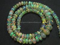 Natural Ethiopian Welo Fire Opal Plain Beads