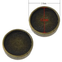 Slide Charm Setting Zinc Alloy Flat Round antique bronze color plated 14x14x5mm Hole:Approx 8x1.5mm Inner Diameter:Approx 12mm