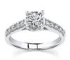 Designer 0.80Ct Real Natural Round Cut Diamond Engagement Ring 14k White Gold