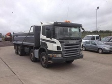 Used SCANIA P SERIES 8X4 Tipper - Right Hand Drive - Stock no: 13569