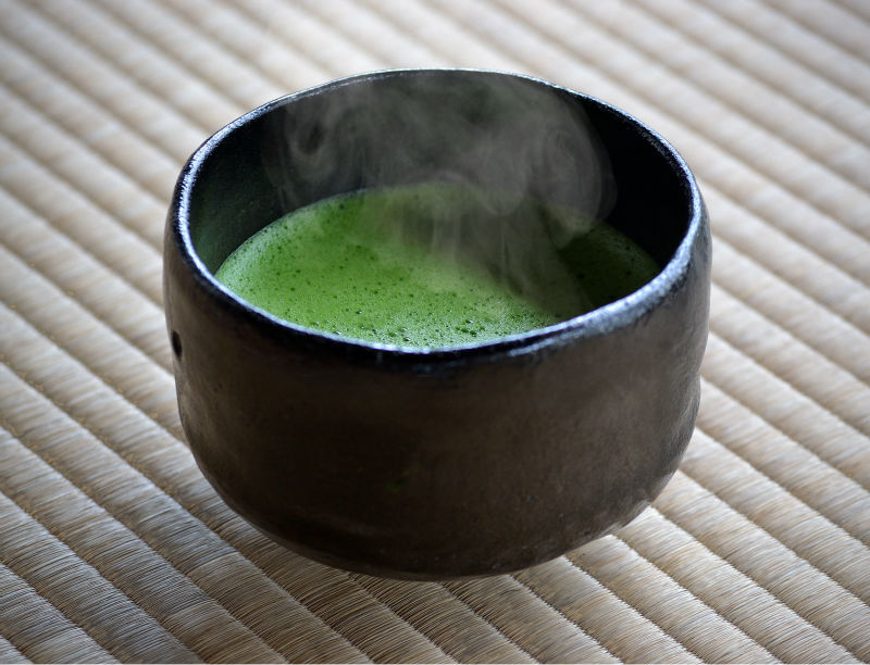 Healthy green tea Matcha by Japanese beverage industry