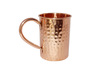 SOLID COPPER STRAIGHT MUG 16 OUNCE HAMMERED WITH COPPER QUESTION MARK HANDLE