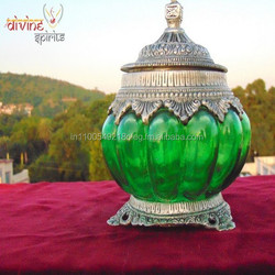 Indian Handicrafts Metal Glass Lamp