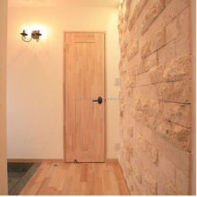 Solid wood modern doors designs bonded with harmless rice glue