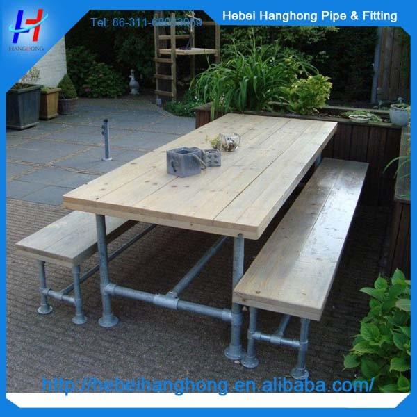 Tables et chaises pieds avec 1 2 tuyau en acier - Taille d une palette europe ...