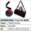 Foldable Travel Bag (red & black)