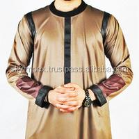 A muslim kurtas - Wholesale, Muslim Kurta, Men Wear jubba, Thobe, Daffah, Thawb, Emran Brown Galabiyya