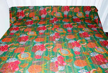 buy heavy quilted knatha throw blanket kantha quilts for sale