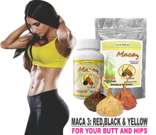 Maca Powder ONLY for Women by Curvy Fruit, 100% Gelatinized : Shape & Define your Butt & Hips (75 days Supply)