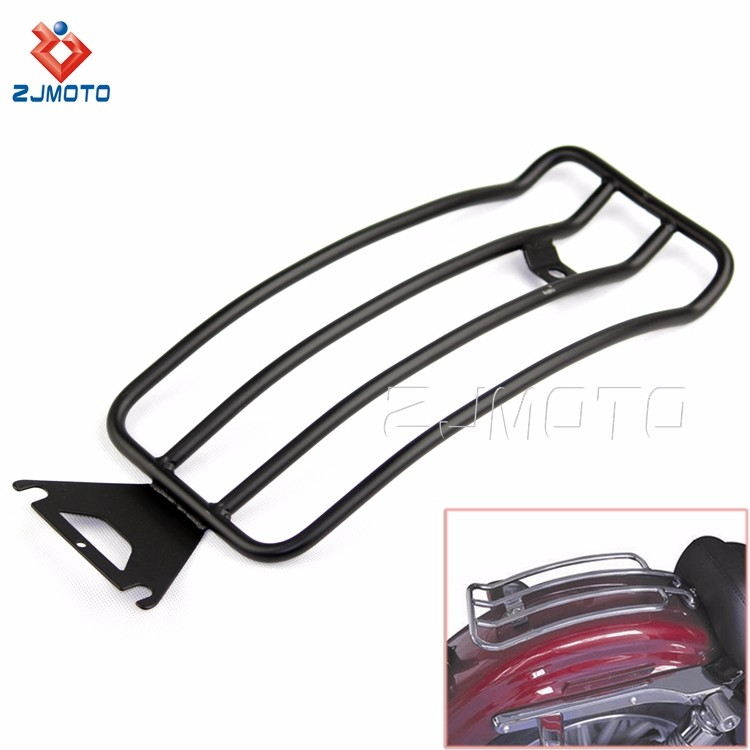 For HARLEY TOURING ROAD KING BAGGER stainless steel Silver Motorcycle Rear Luggage Carrier Rear Carrier Luggage Rack (3).jpg
