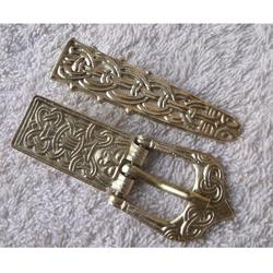 Buckle 900 - 1100 Vikings belt end fitting brass hand made