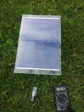 Portable flexible 7,3W solar charger panel 5V / 12V thin, light
