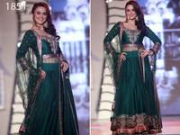 Exclusive Latest Designer Preity Zinta Style Green Anarkali Dress/Salwar Kameez
