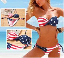 Caliente venta de la bandera americana Bikini