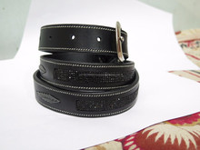 Indian Diamond Leather Belts with Lased