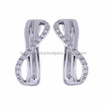 Wholesale Fashion Accessories 2015 925 Sterling Silver Cross Stud Earring