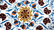 RTHBC-11 Prismatic Modernistic Floral Uzbekistan Suzani Embroidery Designs queen size Cotton bed covers Wholesale Manufacturers